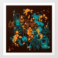 Dream Factory Orange And… Art Print
