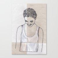 Patchwork Portrait: Kati… Canvas Print