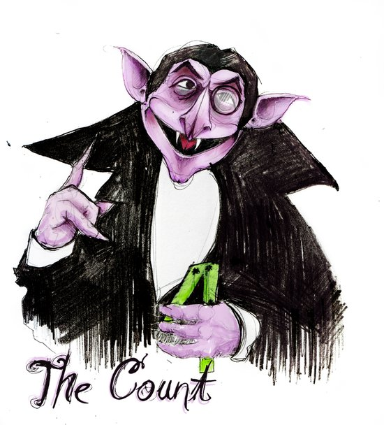The Count Art Print