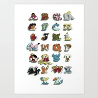 The Disney Alphabet - Wh… Art Print