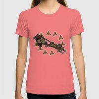 Christmas on the Nut Express Womens Fitted Tee Pomegranate SMALL