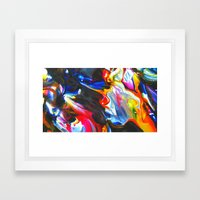 Cellophane Flowers Framed Art Print