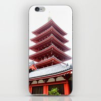 Japanese Pagoda iPhone & iPod Skin