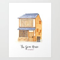 The gion house Art Print