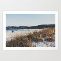 Strandspaziergang In Bin… Art Print