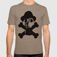 Man in the Mask Mens Fitted Tee Tri-Coffee SMALL