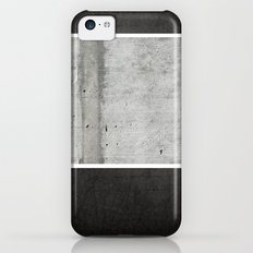 Raw Concrete and Black Leather Slim Case iPhone 5c