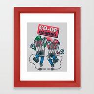 Framed Art Print featuring Co-op Gaming by MeleeNinja