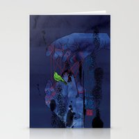 Fade Into The Blue-模�… Stationery Cards