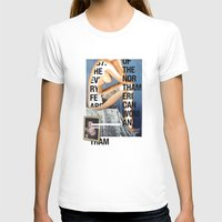 woman T-shirts featuring The North American Woman by Matthew Billington