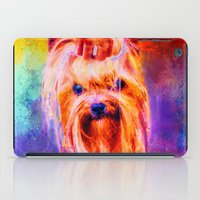 Jazzy Yorkshire Terrier Colorful Dog Art by Jai Johnson iPad Case
