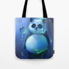 aqua panda Tote Bag