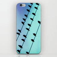 Birds & Lines #2 iPhone & iPod Skin