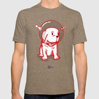 Space Puppy Mens Fitted Tee Tri-Coffee SMALL