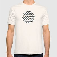 Chevron Glitter Mens Fitted Tee Natural SMALL
