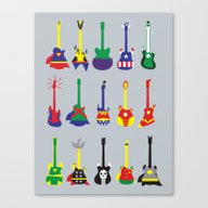 Canvas Print featuring Guitar Heroes  by Jonah Makes Artstuff