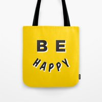 Be Happy Smiley Tote Bag