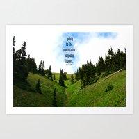Going to the Mountains Art Print