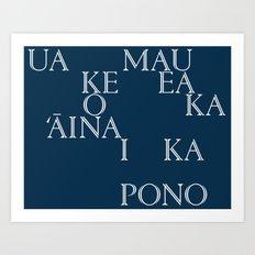 Hawaii (in Hawaiian) Art Print