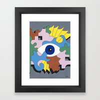 Patterned Eyes | The Right Eye 2/2 Framed Art Print