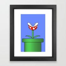 Minimalist Piranha Plant Framed Art Print