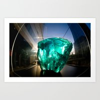 Kryptonite Art Print