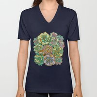 Blooming Succulents Unisex V-Neck