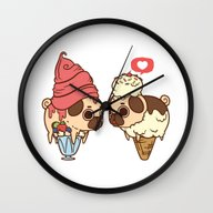 Puglie Froyo And Ice-Cre… Wall Clock