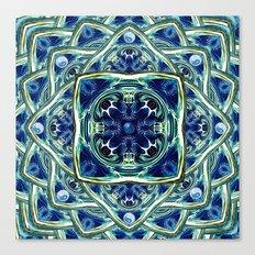 Blue & Green Yin Yang Canvas Print