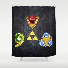 The Timeless Legend of Zelda Inspired Spiritual Stones Shower Curtain