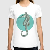 Seahorse Womens Fitted Tee White SMALL