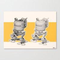 Exporers II - Robot Canvas Print