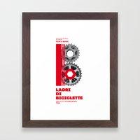 Bike to Life - LadridiBiciclette Framed Art Print