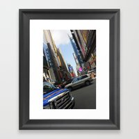 New York City Time Squar… Framed Art Print