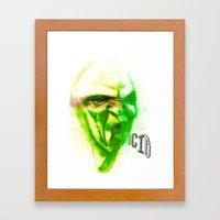 Acid Face Framed Art Print