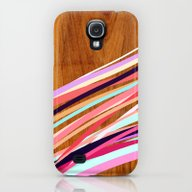 Wooden Waves Coral Galaxy S4 Slim Case