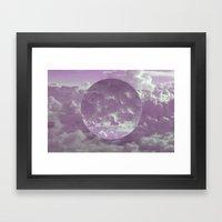 Purple Clouds Framed Art Print