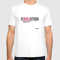 Revolution SMALL Mens Fitted Tee White