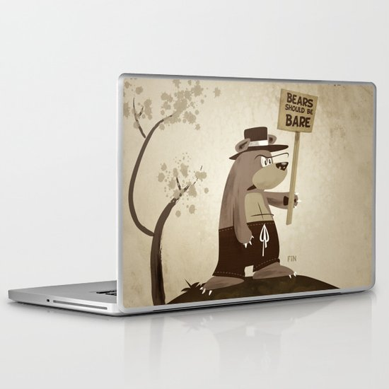 Bears want to be bare Laptop & iPad Skin