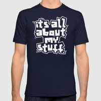 All about it. Mens Fitted Tee Navy SMALL