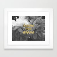 Leave Me Alone Framed Art Print