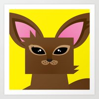 Furry Kitty Art Print
