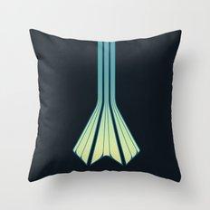 Retro Lines - Blue Flame Throw Pillow