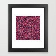 Damask Pattern 01 Framed Art Print