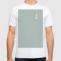 Lone drop Mens Fitted Tee Ash Grey SMALL