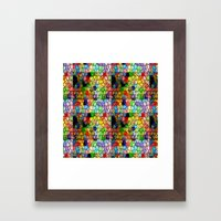 Stained Glass Abstract Digital Art Framed Art Print