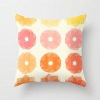 Geometric Flowers Throw Pillow