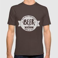 Beer Mens Fitted Tee Brown SMALL