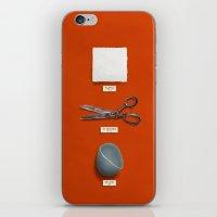 Paper, Scissors, Stone iPhone & iPod Skin