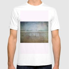 You and me, by the sea SMALL Mens Fitted Tee White
